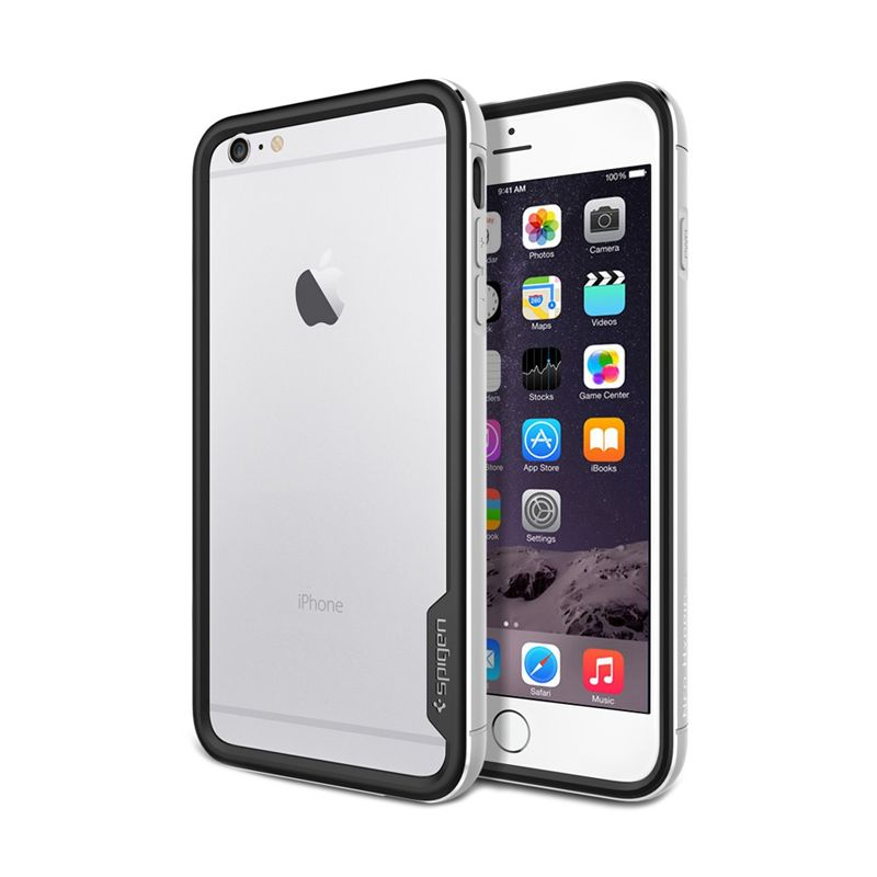 Spigen Neo Hybrid Ex Metal Satin Silver Casing for iPhone 6 Plus