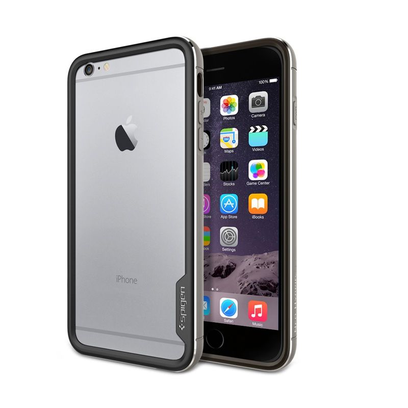 Spigen Neo Hybrid Ex Metal Space Grey Casing for iPhone 6 Plus
