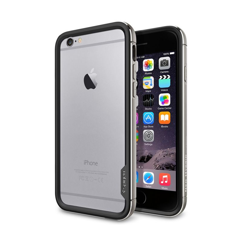 Spigen Neo Hybrid Ex Metal Space Grey Casing For iPhone 6