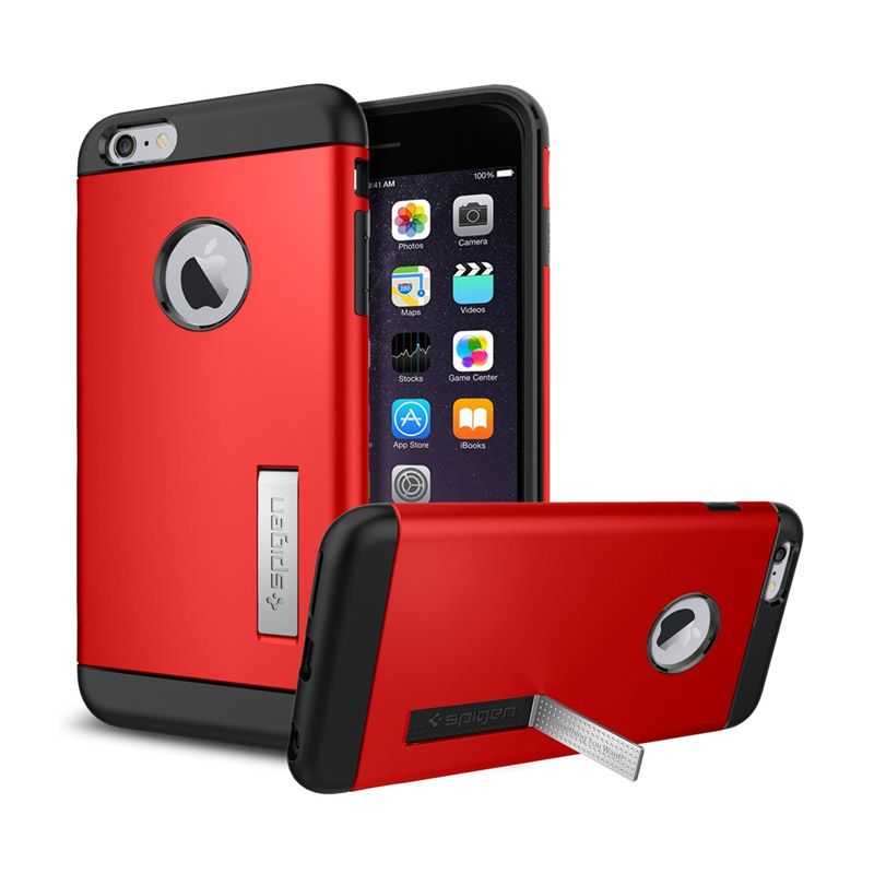 Spigen Slim Armor Electric Red Casing for iPhone 6 Plus