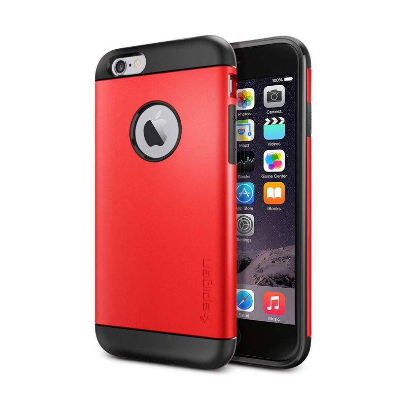 Spigen Slim Armor Electric Red Casing For iPhone 6