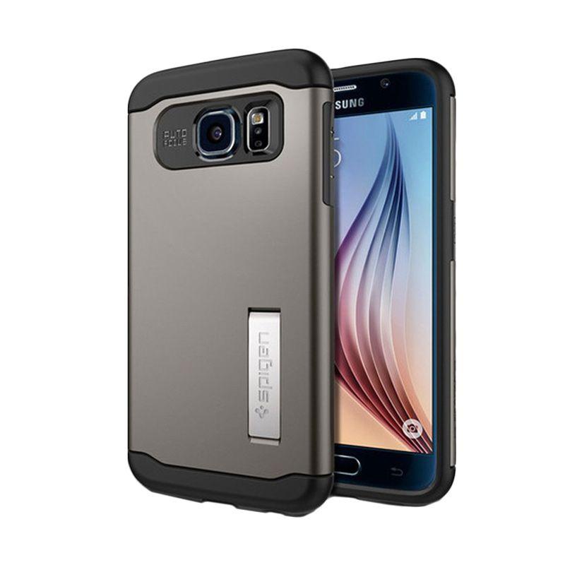 Spigen Slim Armor Gunmetal Casing for Galaxy S6
