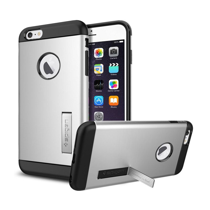 Spigen Slim Armor Satin Silver Casing for iPhone 6 Plus