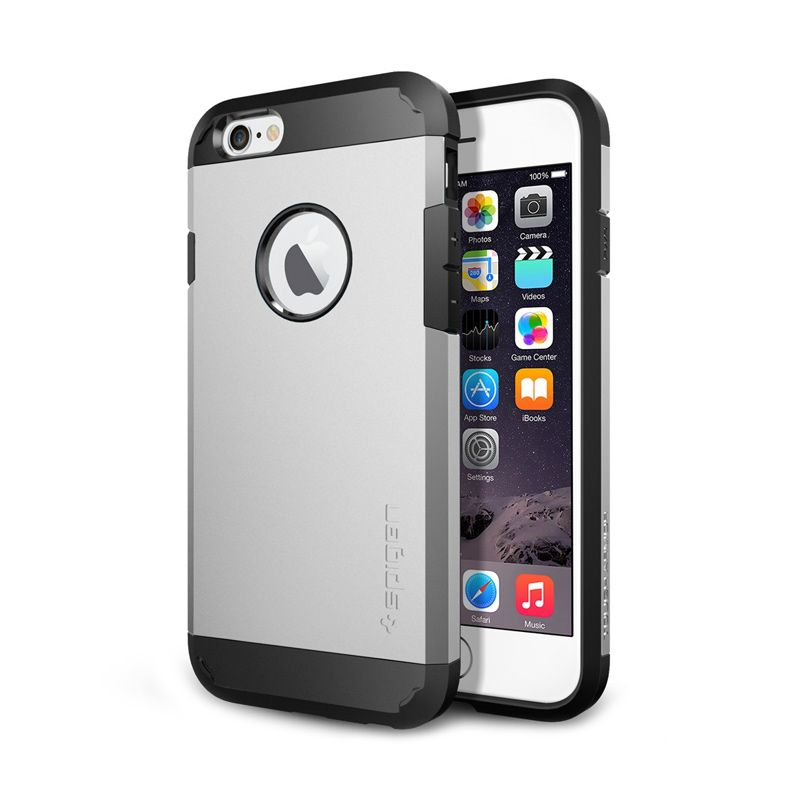 Spigen Slim Armor Satin Silver Casing For iPhone 6