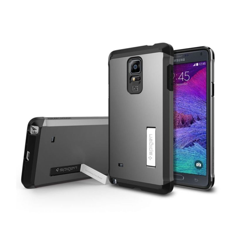 Spigen Tough Armor Gunmetal Casing for Samsung Galaxy Note 4