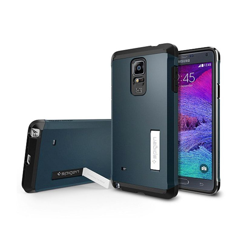 Spigen Tough Armor Metal Slate Casing for Samsung Galaxy Note 4