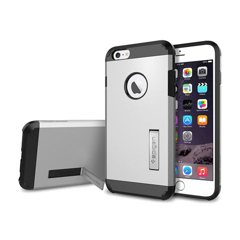 Spigen Tough Armor Satin Silver Casing for iPhone 6 Plus
