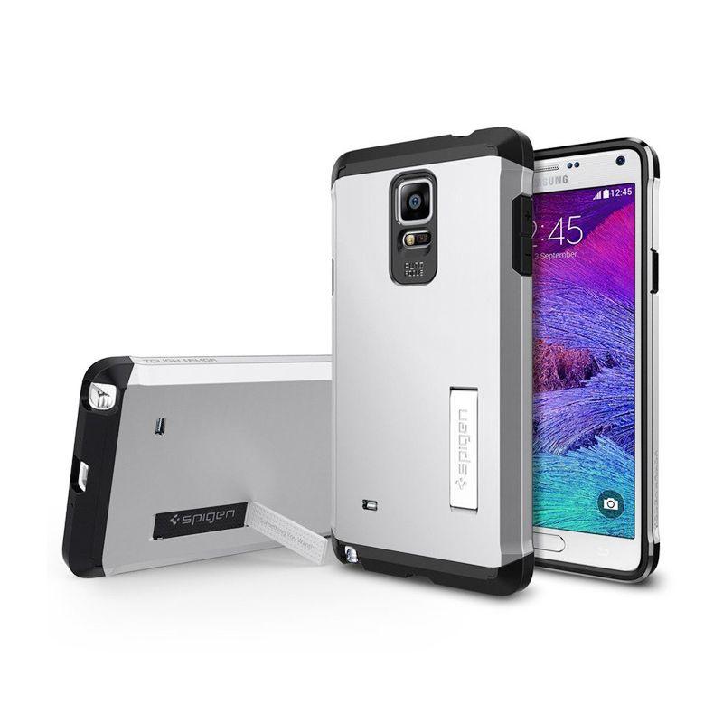 Spigen Tough Armor Satin Silver Casing for Samsung Galaxy Note 4