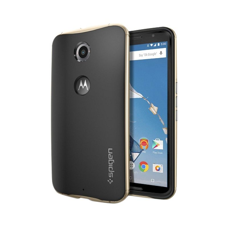 Spigen Neo Hybrid Champagne Gold Casing for Nexus 6