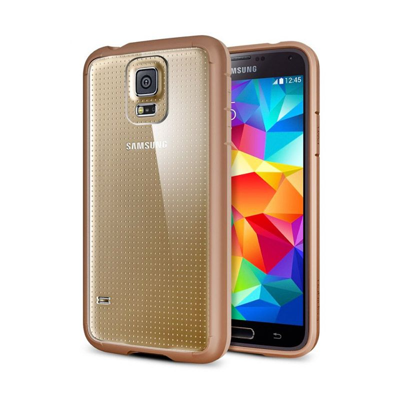 Spigen Ultra Hybrid Copper Gold Casing for Samsung Galaxy S5