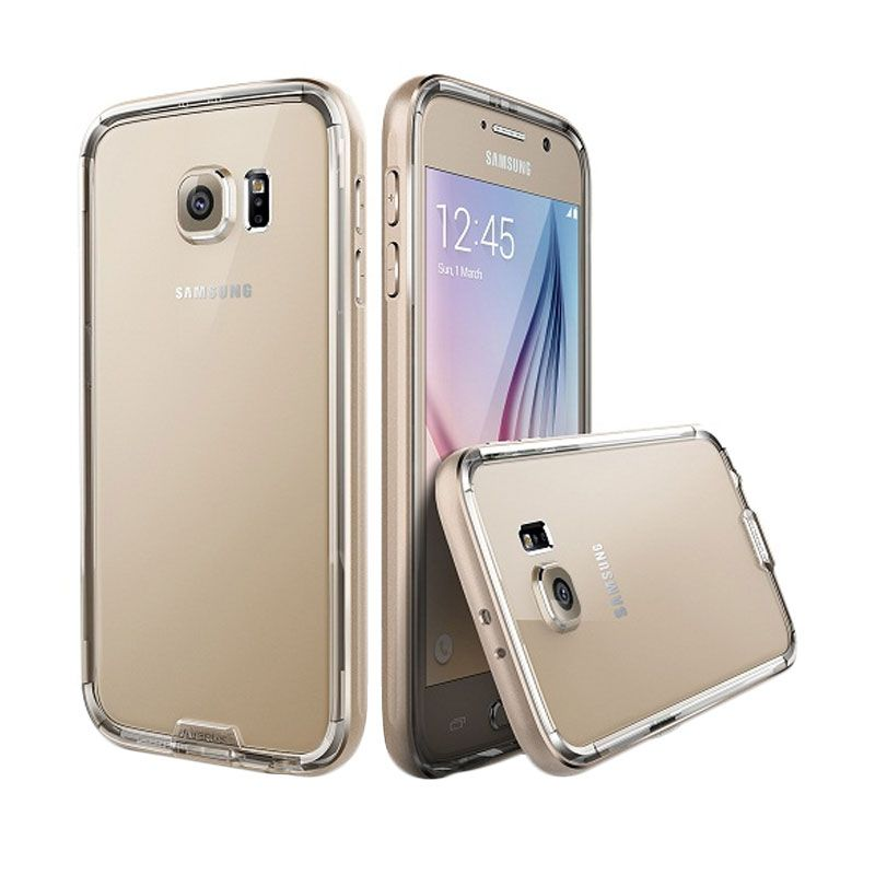 Verus Iron Clear Gold Bumper Casing for Galaxy S6