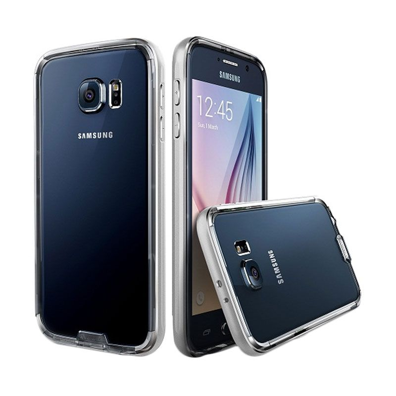 Verus Iron Clear Silver Bumper Casing for Galaxy S6