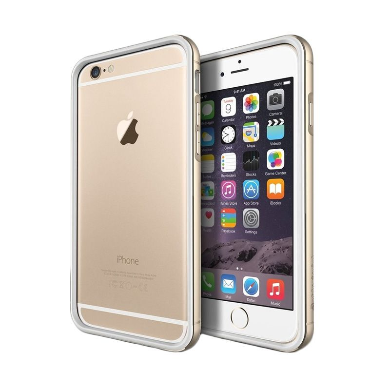 Verus Iron Bumper White Gold Casing for iPhone 6