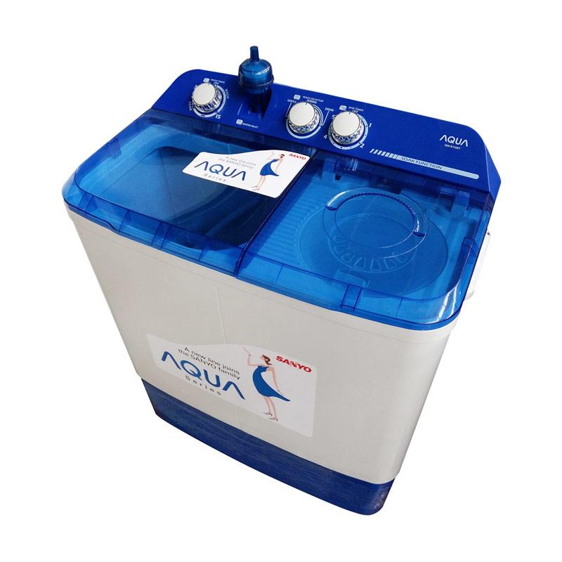 Aqua Semi Auto Washer QW870XT Mesin Cuci [6 Kg]