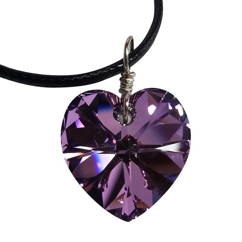 AR Signature Heart Necklace Vitrail Light