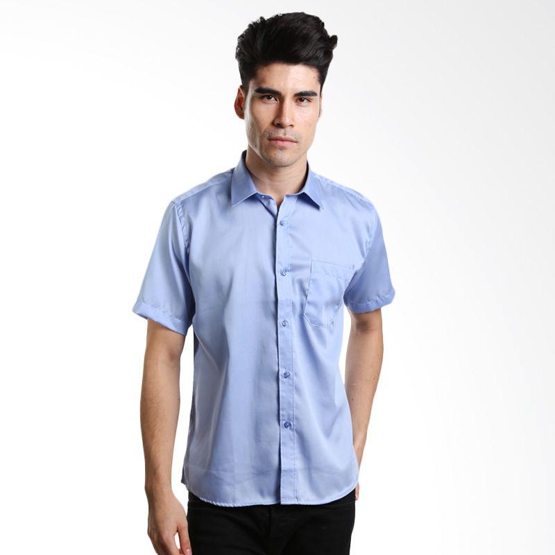 Aramis Formal Shirt Textured Light Blue Kemeja Pria