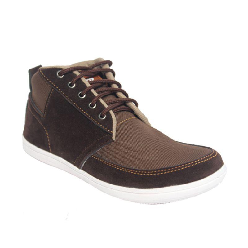 Raindoz Casual High Dark Brown Sepatu Pria