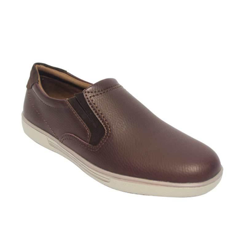 Raindoz Casual Slip Dark Brown Sepatu Pria