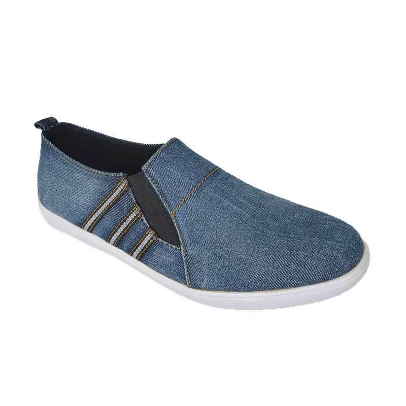 Raindoz Casual Slip Denim Blue Sepatu Pria