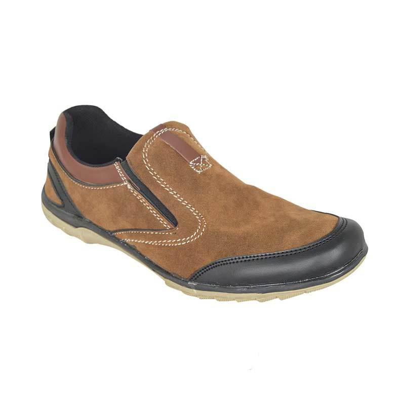 Raindoz Casual Slip Half Brown Sepatu Pria