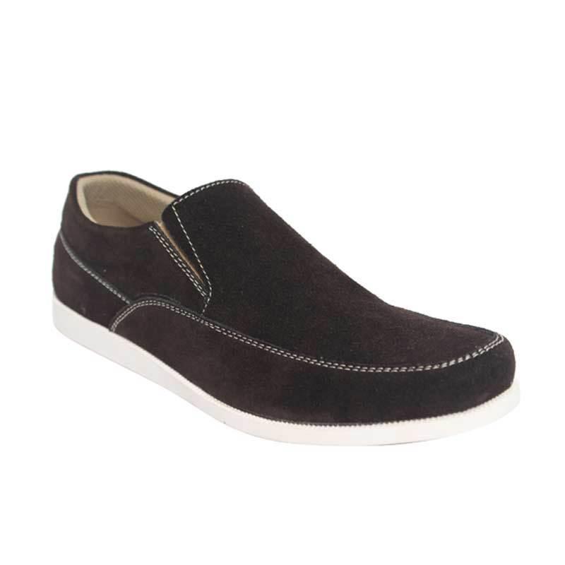 Raindoz Casual Slip Plain Brown Sepatu Pria