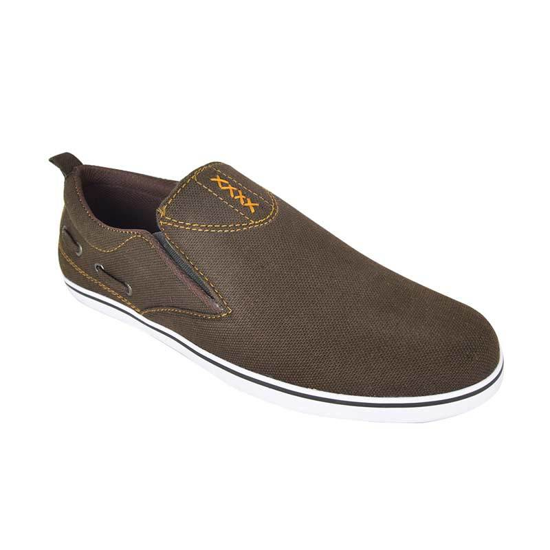 Raindoz Casual Slip X Brown Sepatu Pria