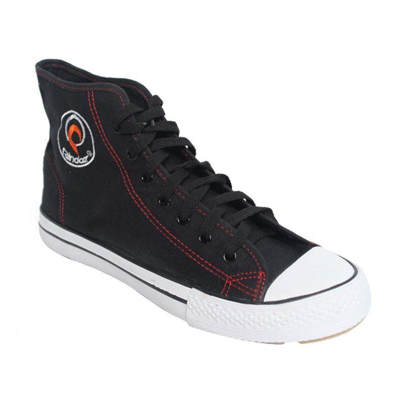 Raindoz High Lace Black Sneakers