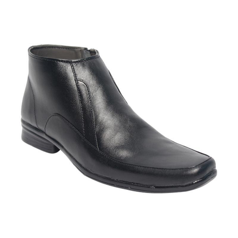 Raindoz Pantofel High RUU 1324 Black Sepatu Pria