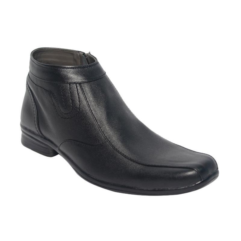 Raindoz Pantofel High Zip Black Sepatu Pria