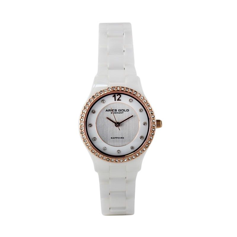 Aries Gold Ceramic L 61082 RG-Roseceramic L 61082 RG-Rose Jam Tangan Wanita