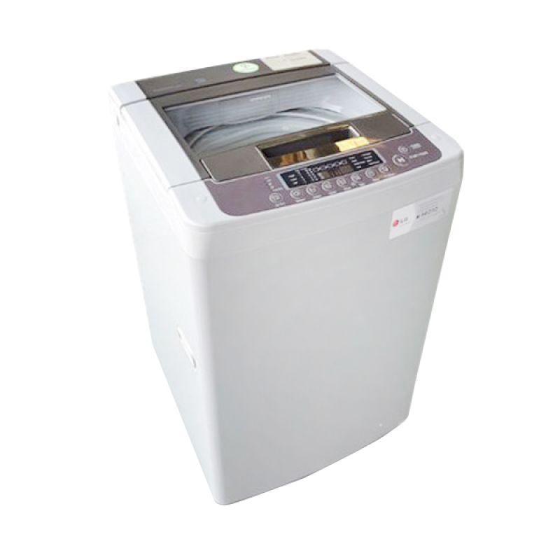 LG 1 Tabung Top Loading TS75VM Silver Mesin Cuci [7 Kg]