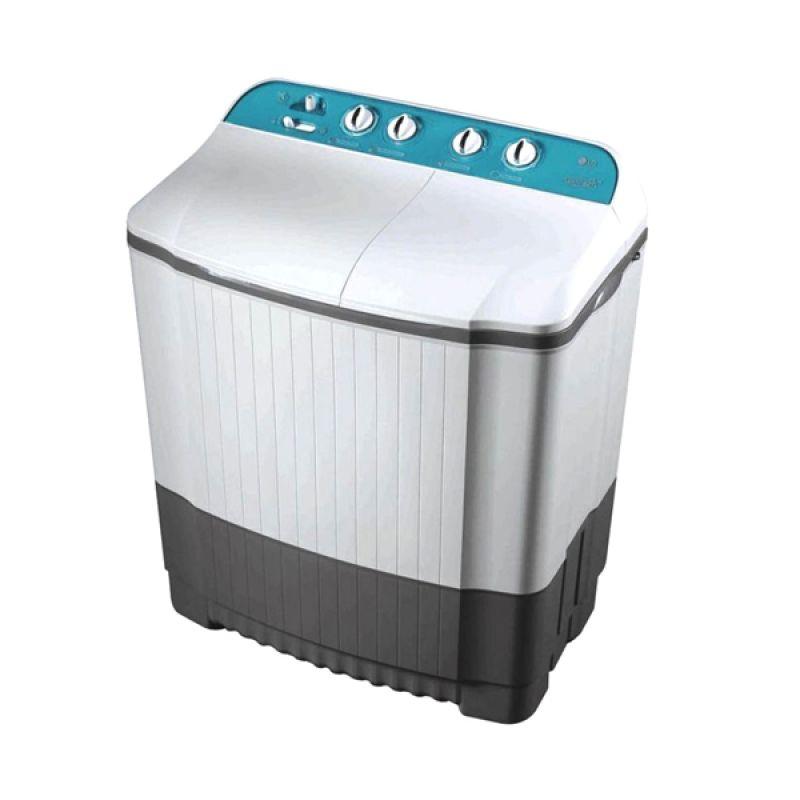 LG WP600N Putih Mesin Cuci [6 kg/2 Tabung]