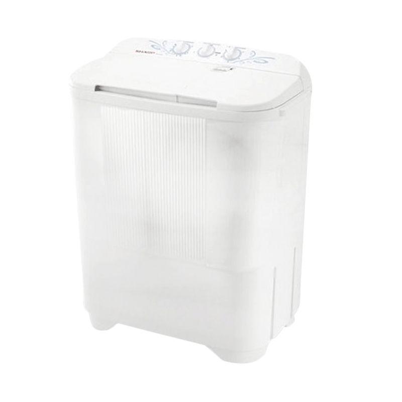 Sharp Puremagic ES-T65MW-BK Putih Mesin Cuci [6,5 Kg]