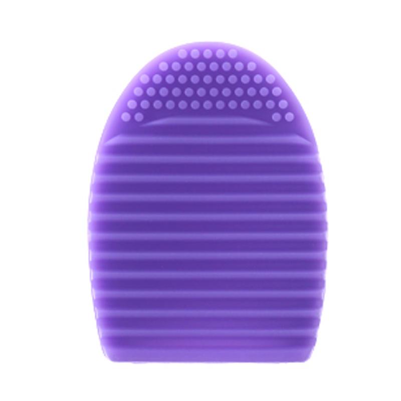 Armando Caruso 837 Egg Shape Makeup Brush Cleanser Pad - Ungu Muda