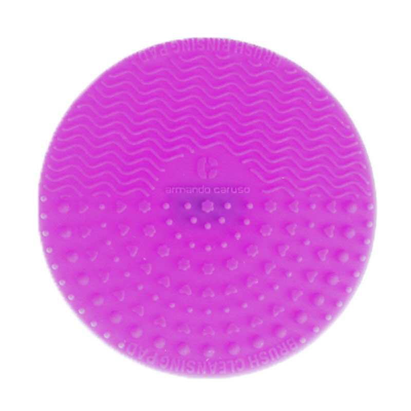 Armando Caruso 838 Round Makeup Brush Cleanser Pad - Ungu