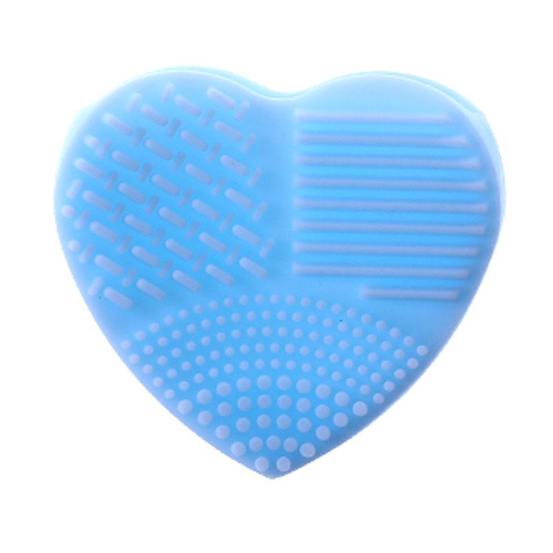 Armando Caruso 839 Heart Makeup Brush Cleanser Pad - Biru Muda