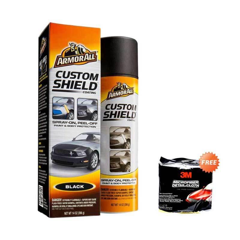 Armor All Custom Shield NEW Black AA - 17229 Pelindung Cat Mobil [396 gr] + Alat Perawatan Mobil