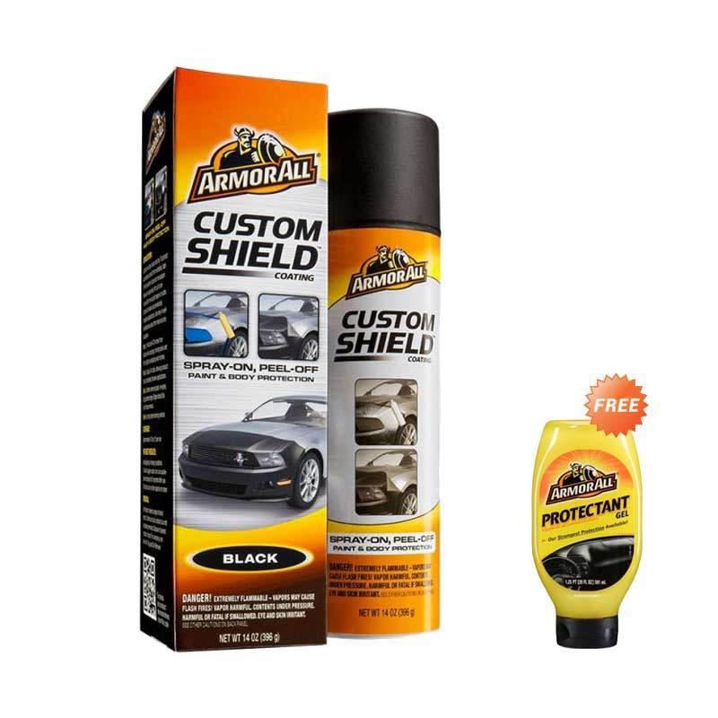 Armor All Custom Shield NEW Black AA 17229 Pelindung Cat Mobil [396 gr] + Armor All Protectant Gel NEW AA 10960 [591 mL]