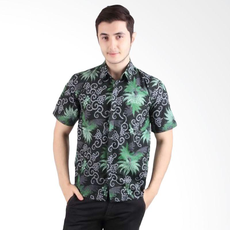 Batik Begawan Lengan Pendek Pola Hijau 011