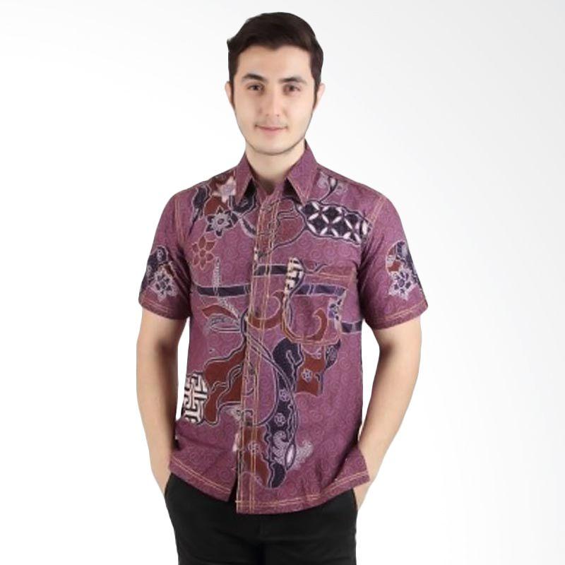 Batik Begawan Modern Lengan Pendek Ungu 006