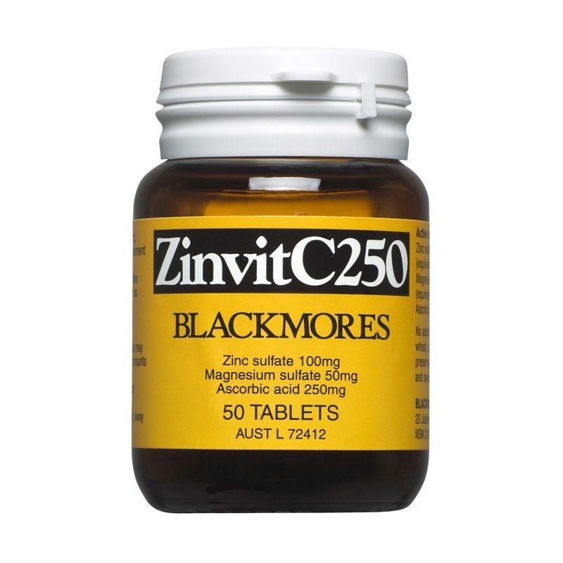 Blackmores Zinvit C Magensium Suplemen [250 mg/50 Caps]