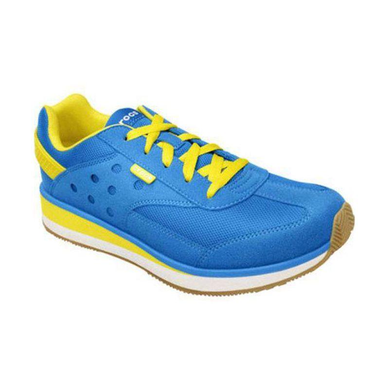 Crocs Retro Sneaker Ocean Burst Lime Sepatu Pria