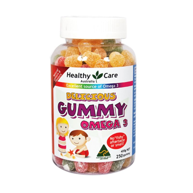 Healthy Care Gummy Omega 3 Multivitamin [250 Gummies]