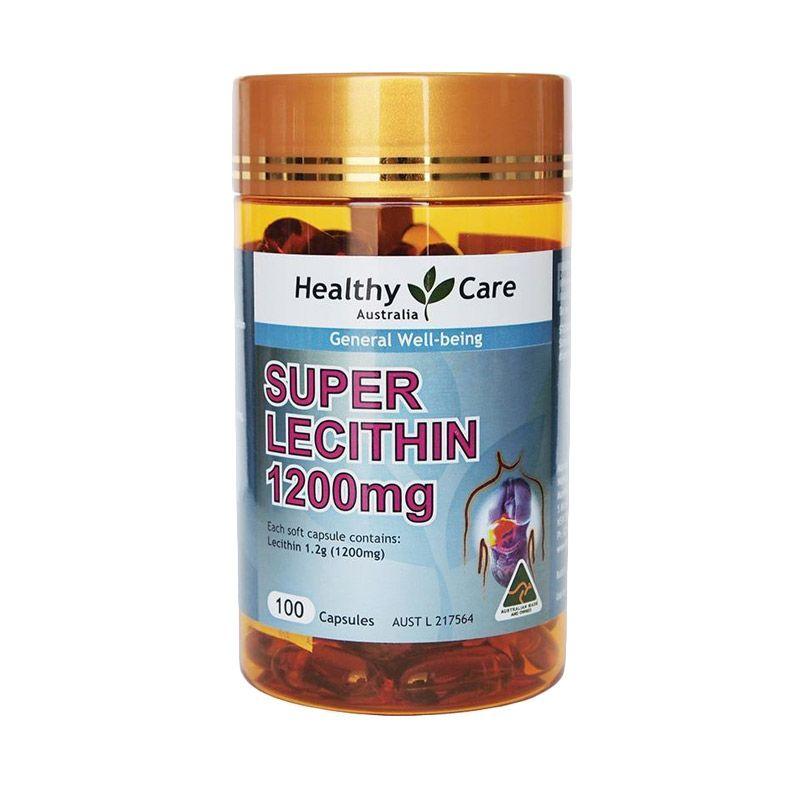 Healthy Care Lecithin Suplemen Kesehatan [1200 mg/100 Kapsul]