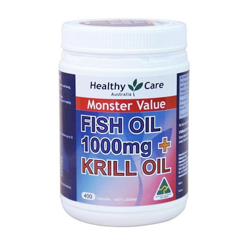 Healthy's Care Fish Oil & Wild Krill Oil Suplemen [1000 mg/400 Kapsul]