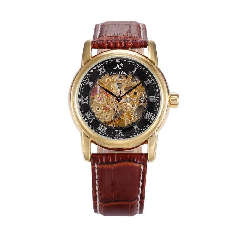 KS (Kronen & Sohne) KS032 Jam Tangan Casual Gold - Brown