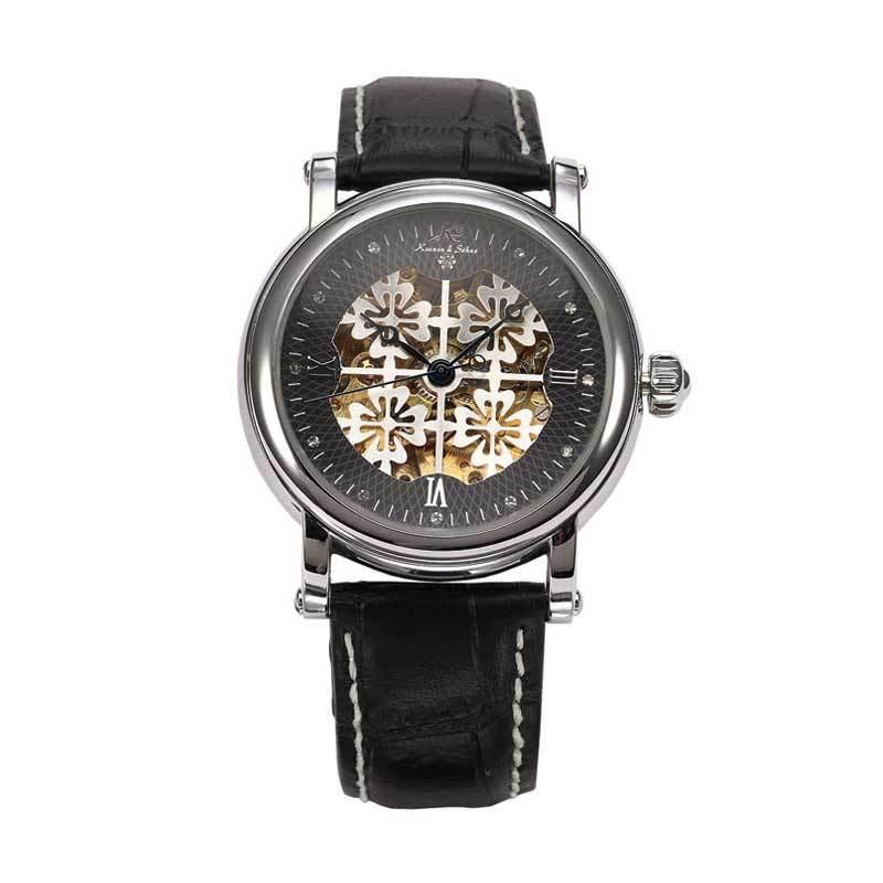 KS (Kronen & Sohne) KS118 Jam Tangan Casual Silver - Black