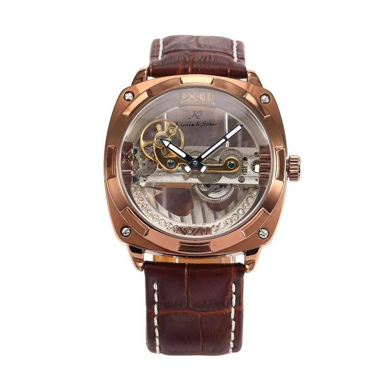 KS (Kronen & Sohne) KS136 Jam Tangan Casual Gold - Brown