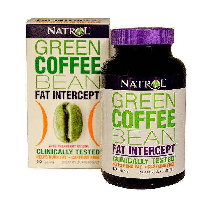 Natrol Green Coffee Bean Fat Intercept with Raspberry Ketone Suplemen [60 Tablets]