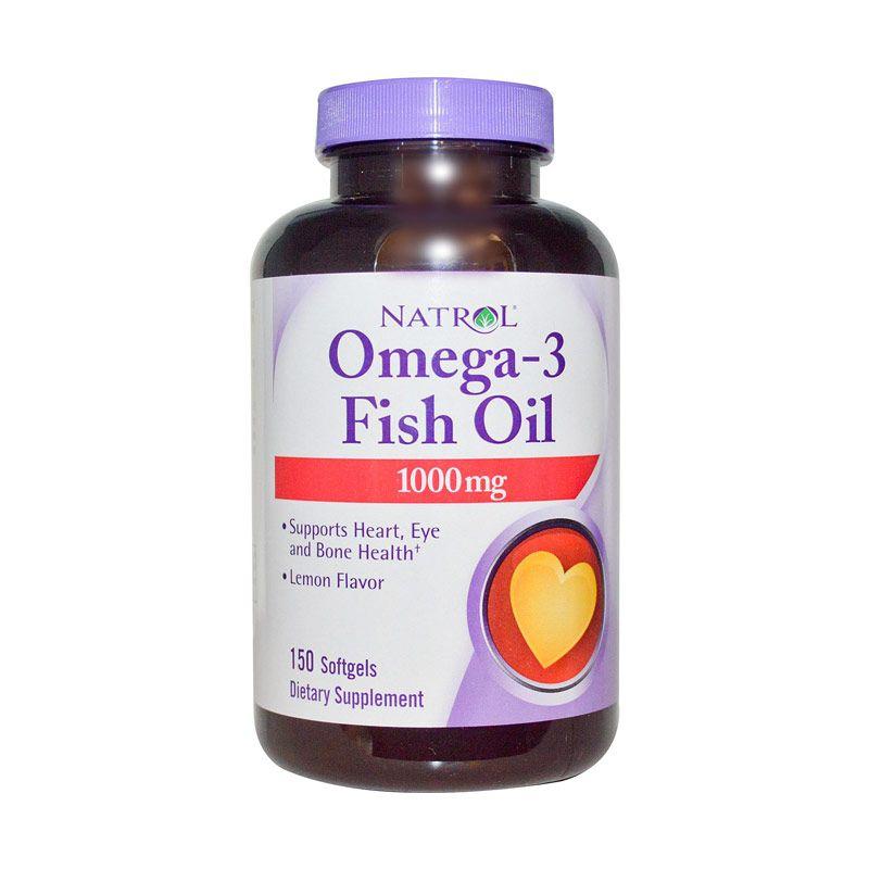 Natrol Omega 3 Fish Oil Lemon Flavour Suplemen [150 Softgels]